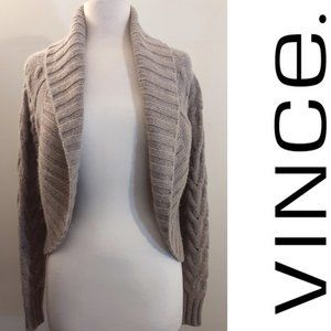 VINCE Cashmere & Wool Open Cable Knit Cardigan